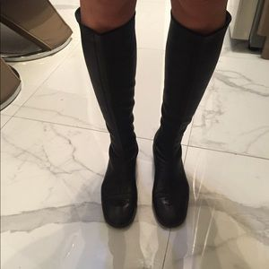Chanel knee high boots